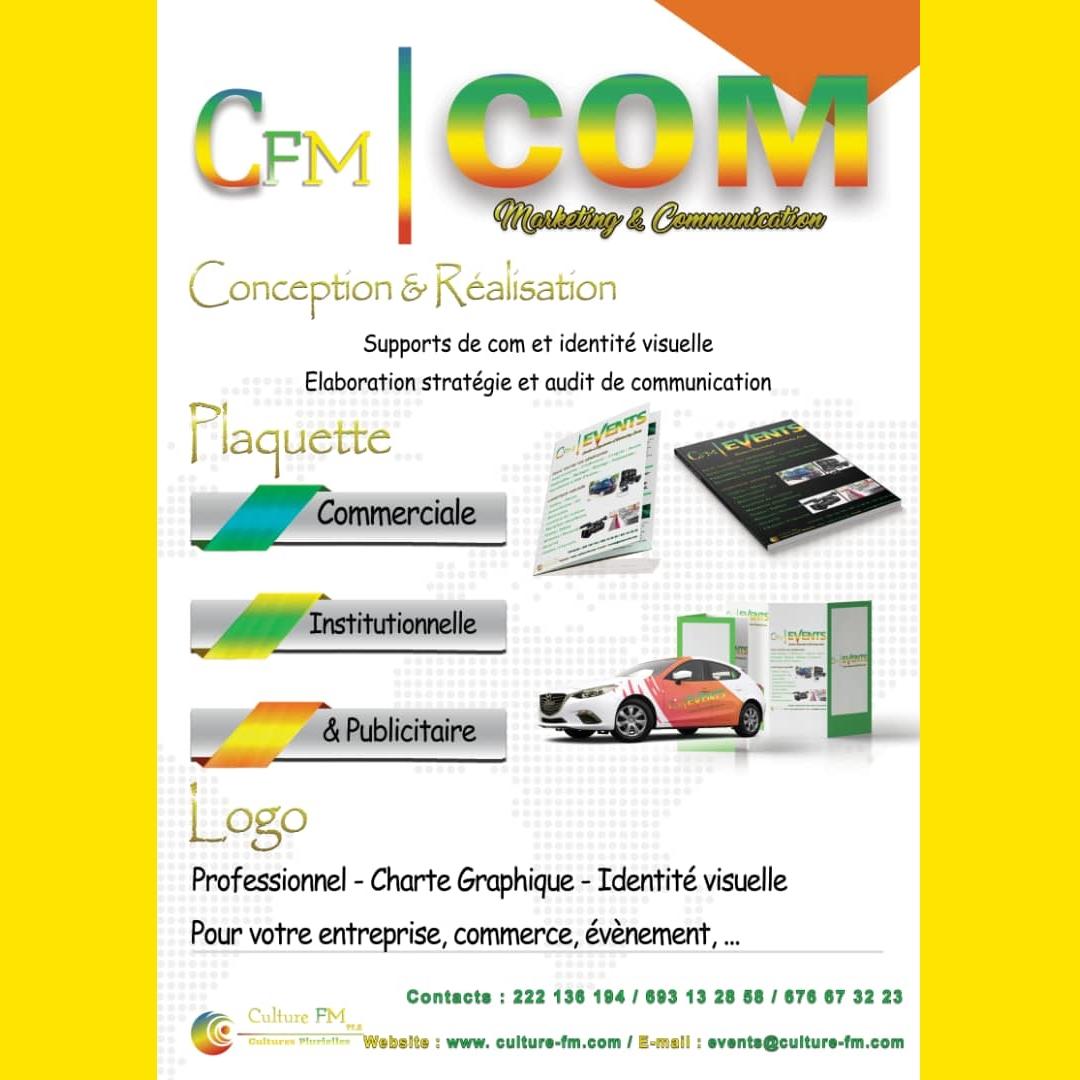 CFM COM: Avec vous pour la conception et réalisation de vos supports de com