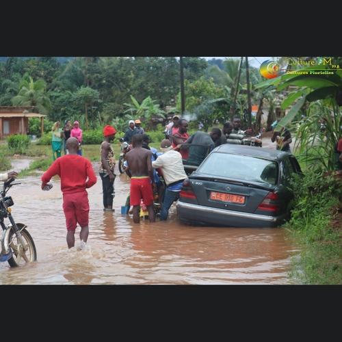 Graves inondations à Eseka au réveil, ce matin du 10 octobre 2019