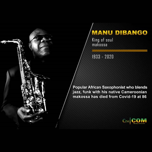 Manu Dibango has died in Paris