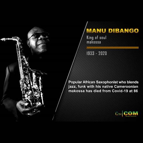Manu Dibango has died in Paris